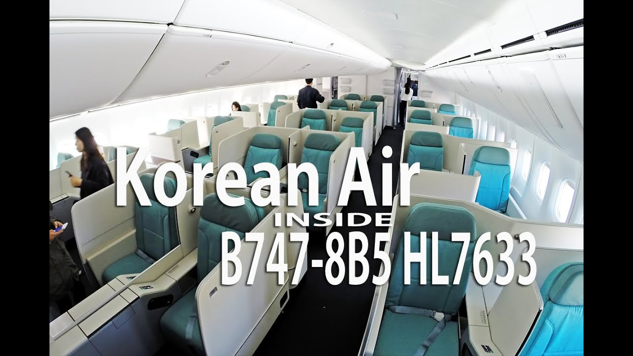 B747 8i In Korean Air Incheon Hangar Inside 인천공항 대한항공 격납고