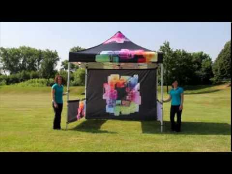 Apg Exhibits Zoom Pop Up Tent Set Up Video Youtube