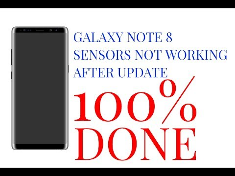 Galaxy note 8 sensor mati 100% sukses (note 8 sensors not