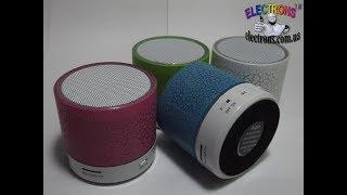 Аудио bluetooth спикер, музыкальная портативная колонка, радио, мп3 плеер видео обзор Electrons TM