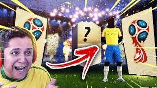 Chegou a COPA!!! TIREI UM ICON E FIQUEI REVOLTADO!!! FIFA 18 WORLD CUP!!! 💸🔥