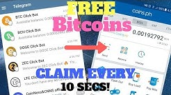 "TOP ""5"" TELEGRAM BOT! FREE BITCOINS PAYING WITH PROOF! NO INVESTMENT!"