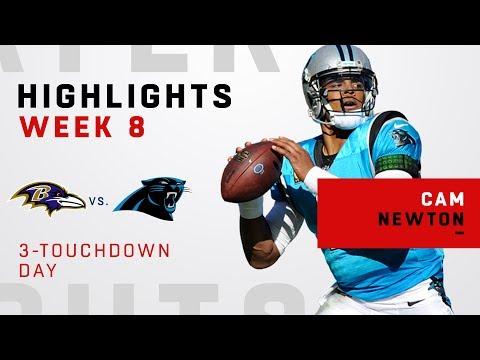 Cam Newton's Triple-TD Day vs. Ravens