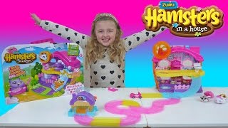 HAMSTERS IN A HOUSE | Super FUN Toy hamsters | The Disney Toy Collector