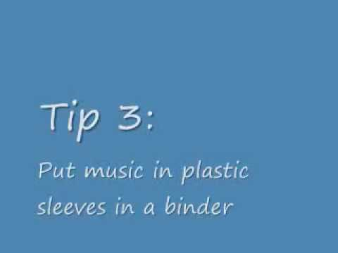 Music Stand Tips