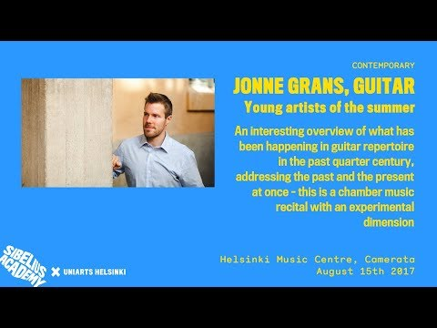Jonne Grans, guitar - Young artists of the summer