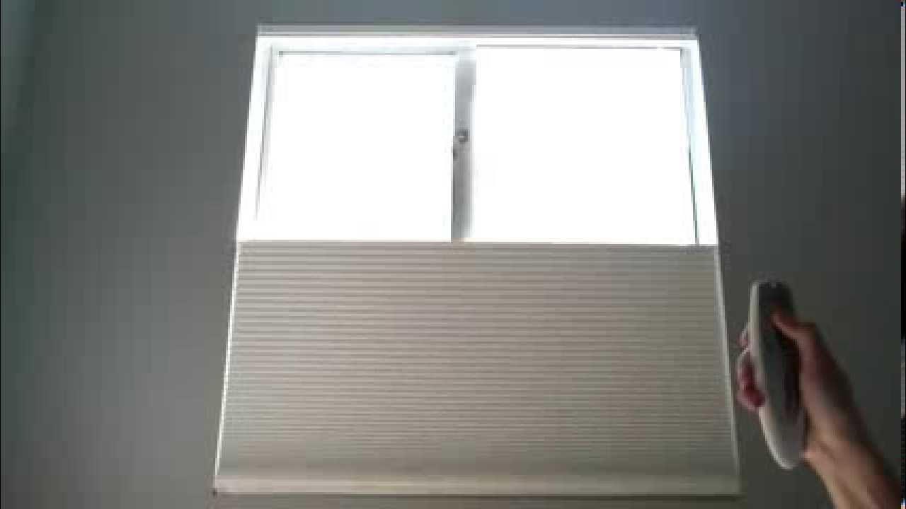 Demonstration Hunter Douglas Duette Architella Shades Top Down Bottom Up With Rise Platinum 2 1 You