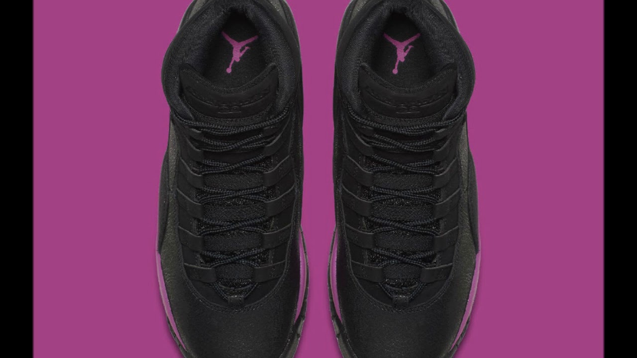 The Air Jordan 10 Gets Hit with a Blast of Fuchsia New colorway is  exclusive to girls 9a678f250