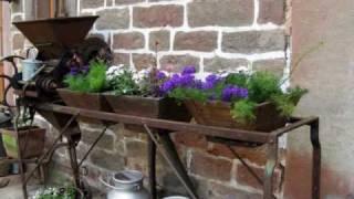 La Ferme  et les Jardins de la Ferme Bleue à Uttenhoffen en Alsace du Nord (France)