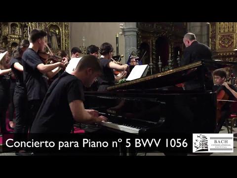 Concierto nº 5 BWV 1056 Mvto. I de J. S. Bach - Isaac Martínez Mederos, piano.