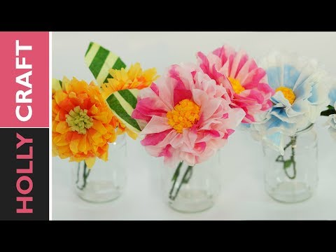 3 Easy Ways Tissue Paper Flowers | How To Make Tissue Paper Flowers