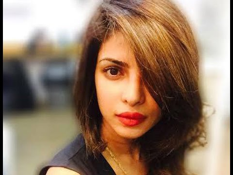 actress with short hair styles priyanka chopra gets haircut bt 8840 | hqdefault