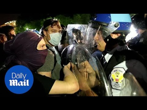 Protesters Confront Police Outside White House As George Floyd Riots Continue