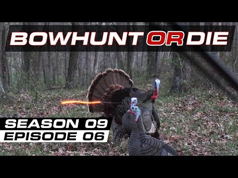 Turkey Hunting 2018 - Taking Flight- Bowhunt or Die Season 9 Episode 6