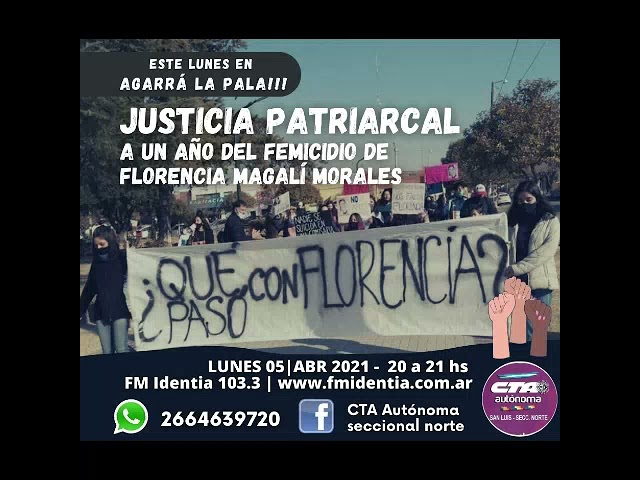 Agarrá la pala!!! 5 de abril 2021- Justicia patriarcal