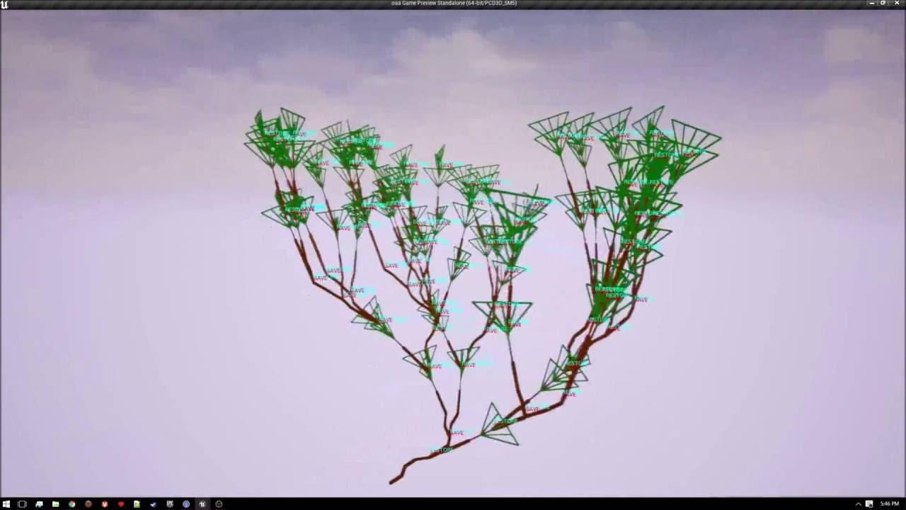 Unreal Engine 4 - C++ Lindenmayer System Plugin Example Tree
