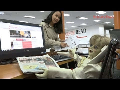 'Annabelle' pays haunting visit to New Straits Times editorial floor
