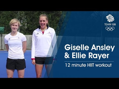 Giselle Ansley & Ellie Rayer - Hockey HIIT For Beginners | Workout Wednesday
