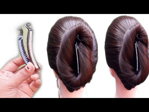 Quick and easy  hairstyle . Banana Clip hairstyle ,Juda hairstyle ,simple hairstyle. Girls hairstyle thumbnail