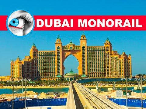 DUBAI MONORAIL RIDE | PALM JUMEIRAH ISLAND | 4K TRAVEL GUIDE  🌴🌴🌴