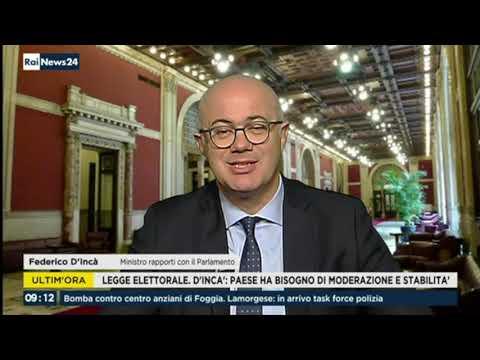 Federico D'Incà ospite a RaiNews24 17/01/2020