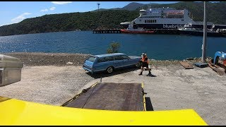 Tricky loading of a classic car in Picton