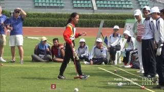 第5回タイ国際ゲートボール大会ダブルス敗者復活トーナメントベスト4決定戦 Paniki sulut(インドネシア) vs Nakornsawan 1 (タイ)