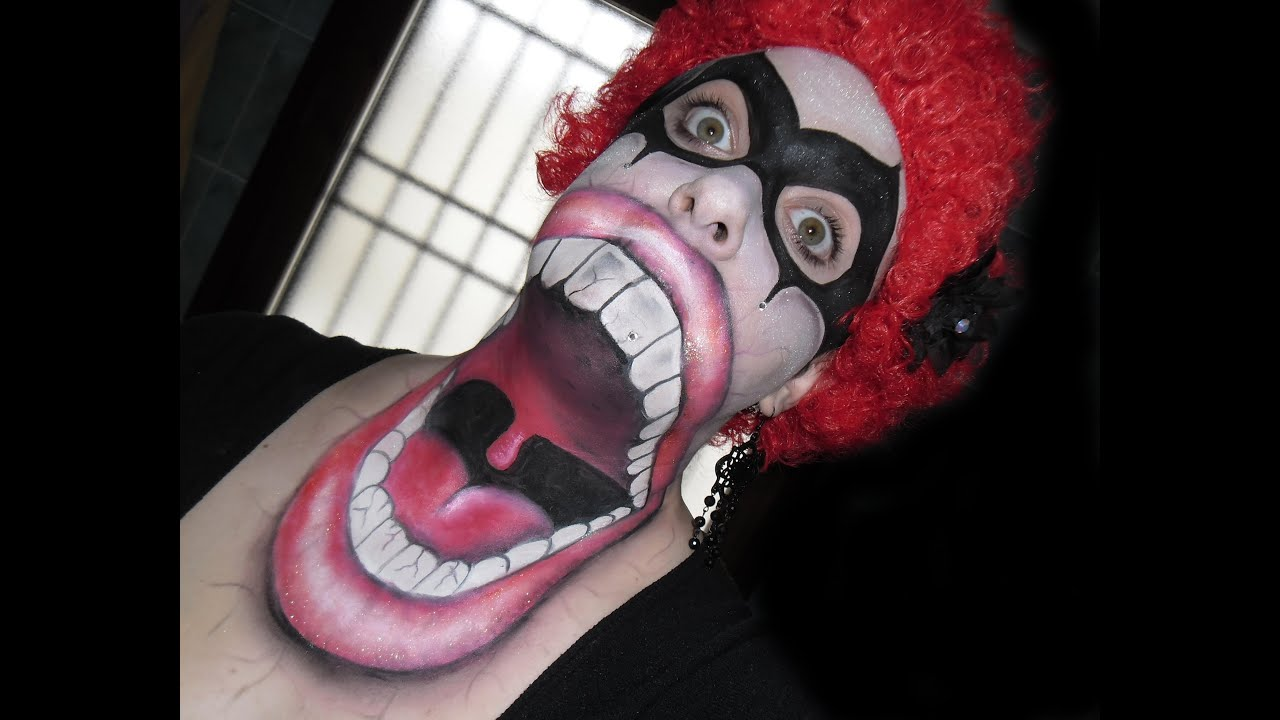 Scary halloween makeup mouth