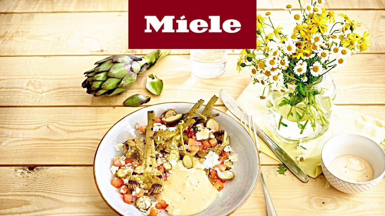 Sommermenü Vorspeise: Baby-Artischocken mit Parmesan und Aioli I ...