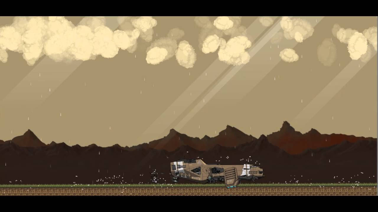 Dropship - a 2D procedurally generated survival game