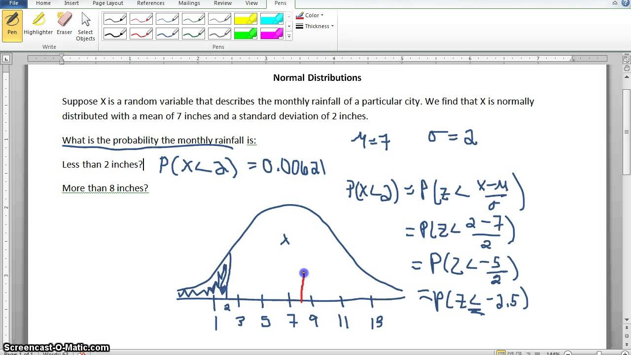 relationship between normal distribution and probability
