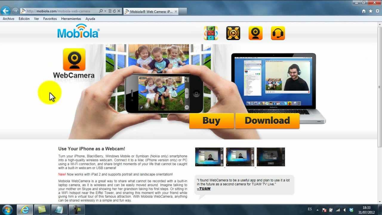 iphone as web camera