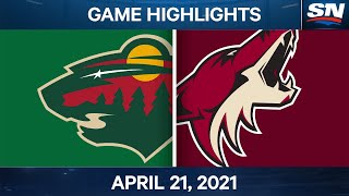 NHL Game Highlights | Wild vs. Coyotes - Apr. 21, 2021