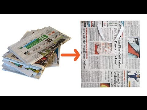 How to Make a Paper Bag with Newspaper | Paper Bag Making Tutorial | Quick and Easy