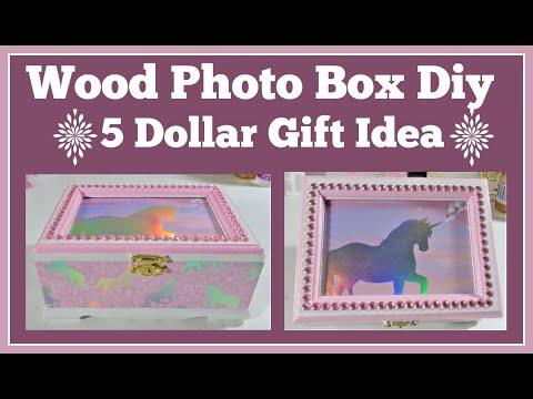 Wood Photo Box Diy 5 Dollar Gift Idea Fun and Easy