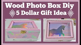 Wood Photo Box Diy 5 Dollar Gift Idea Fun and Easy