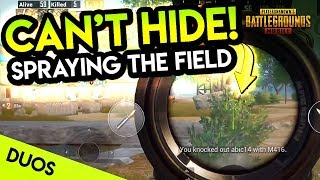 SPRAYING DOWN THE FIELDS WITH LEAD! PUBG Mobile