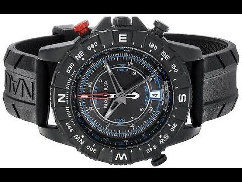 new nautica men s tide temp compass analog display ese quartz new nautica men s tide temp compass analog display ese quartz black watch