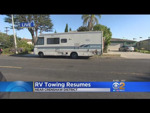 RVs Parked On LA Streets At Risk Of Being Towed