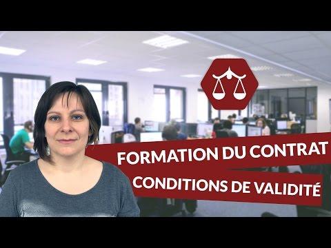 La formation du contrat : conditions de validité - STMG Droit - digiSchool