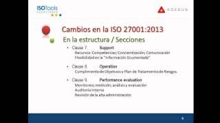 Webinar. Aspectos clave sobre SGSI en la nueva ISO 27001:2013 I