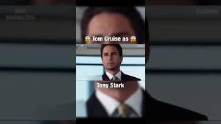 #TomCruise si hubiera sido #TonyStark #RobertDowneyJr.