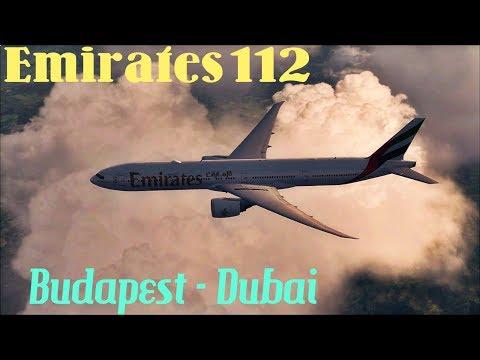 Emirates EK112 Boeing 777-300ER Budapest - Dubai on IVAO [ Dubai RFE 2018. FSX ]
