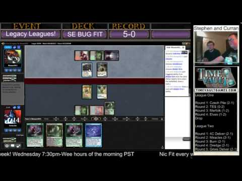 Legacy Bug-Fit vs B/R Reanimator (Round 1, Game 1)  