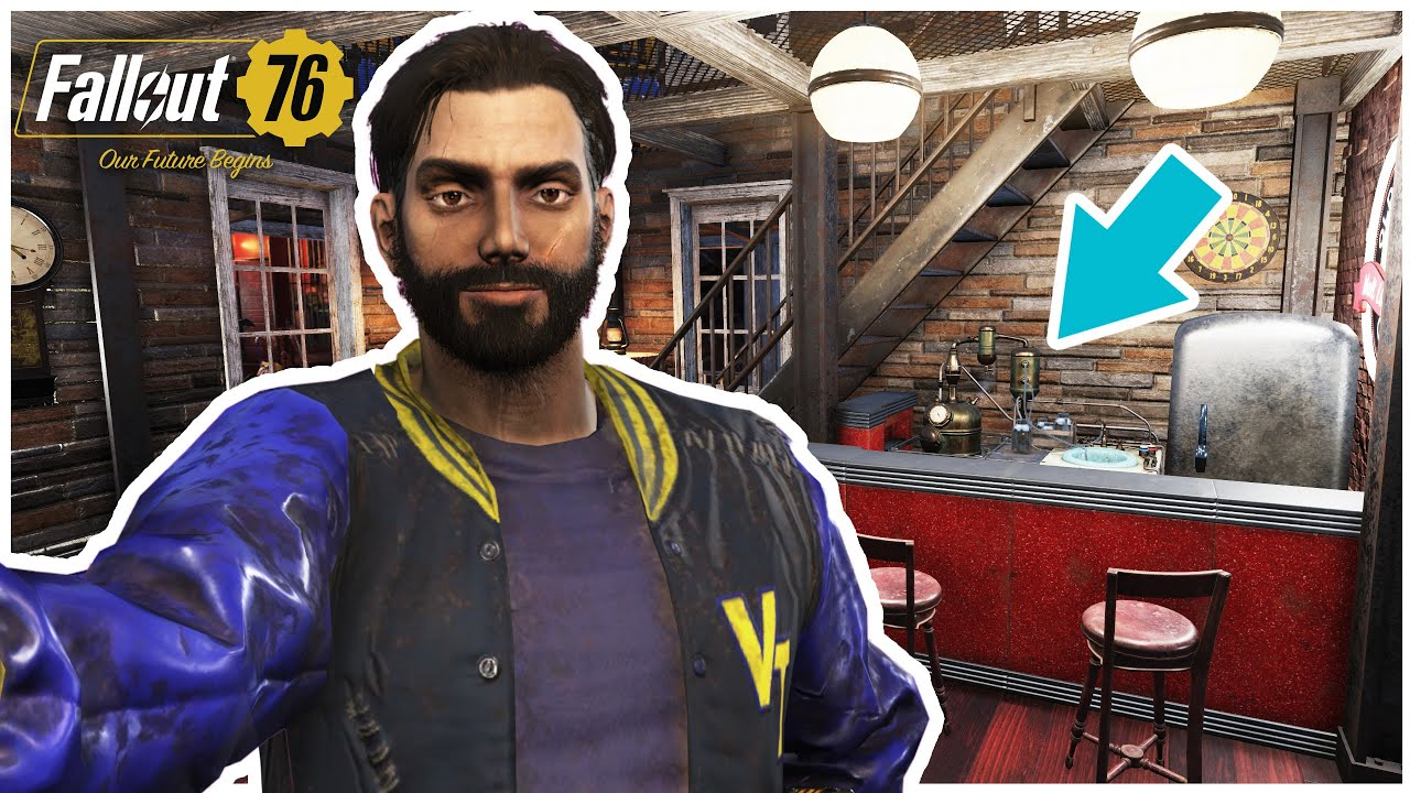 Fallout 76 | How to place items under the stairs (Decorating tips)