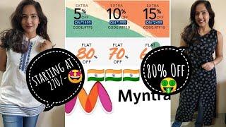Myntra Haul 2019 | Myntra Kurti Haul under 500 Rs | Republic Day Sale | Nailacious