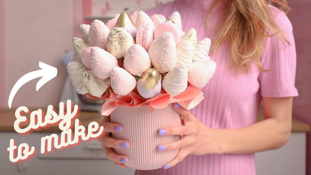 CHOCOLATE COVERED STRAWBERRIES ARRANGEMENT/ BOUQUET/ MOTHER'S DAY  DANI FLOWERS