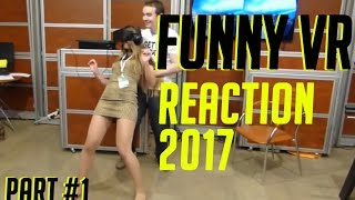 FUNNY VIRTUAL REALITY REACTION COMPILATIONS 2017!!PSVR FUNNY VR REACTIONS