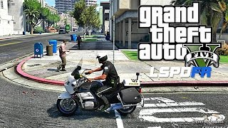 GTA 5 LSPDFR 0.3.1 - EPiSODE 56  - LET'S BE COPS - BIKE PATROL (GTA 5 PC POLICE MODS)