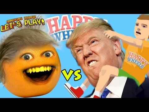 Annoying Orange Plays - HAPPY WHEELS: Donald Trump